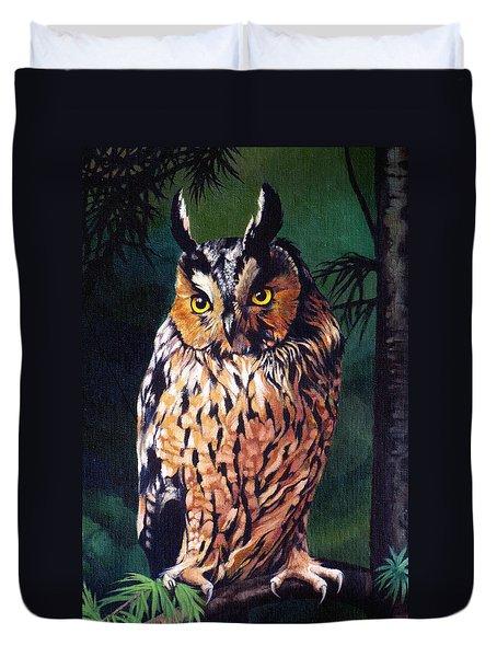 Hoot Owl Duvet Cover