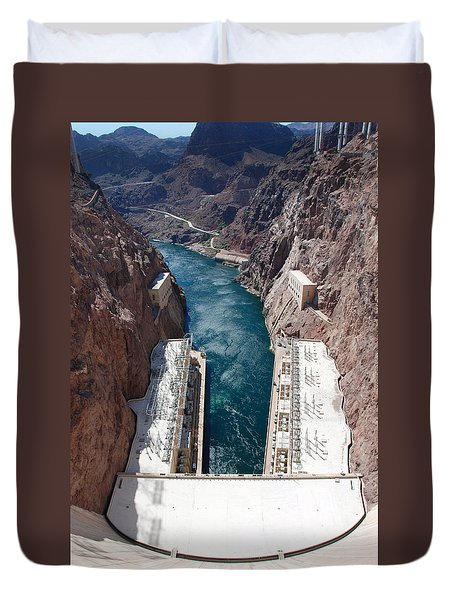 Hoover Dam Black Canyon Duvet Cover