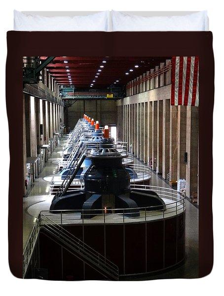 Hoover Dam Generator Room Duvet Cover