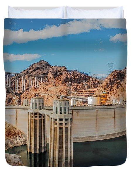 Hoover Dam Reservoir Duvet Cover