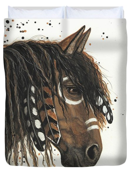 Hopa Majestic Mustang Series 47 Duvet Cover by AmyLyn Bihrle