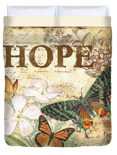 Hope And Butterflies Duvet Cover