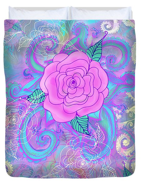 Hope Roses Duvet Cover by Alixandra Mullins