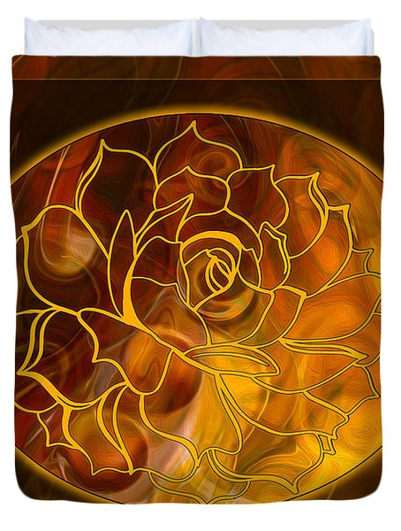 Hope Springs Eternal Abstract Healing Art Duvet Cover