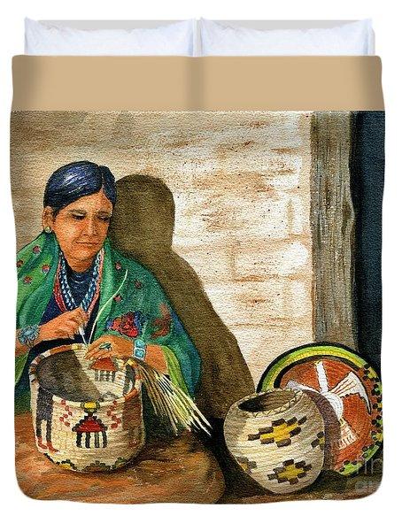 Hopi Basket Weaver Duvet Cover by Marilyn Smith