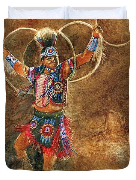 Hopi Hoop Dancer Duvet Cover