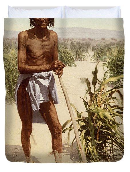Hopi Man With A Hoe Duvet Cover