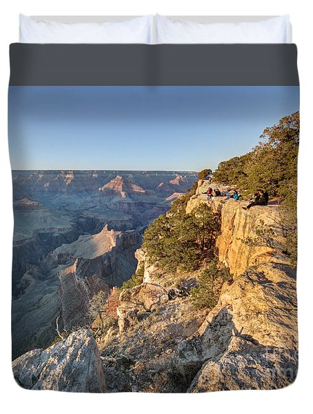 Duvet Cover featuring the photograph Hopi Point Grand Canyon by Martin Konopacki