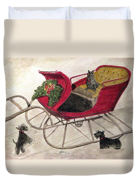 Hoping For A Sleigh Ride Duvet Cover