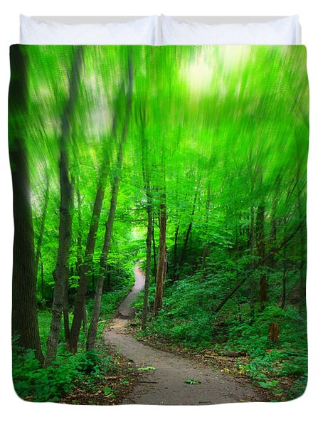 Hopkins Path Duvet Cover by Amanda Stadther
