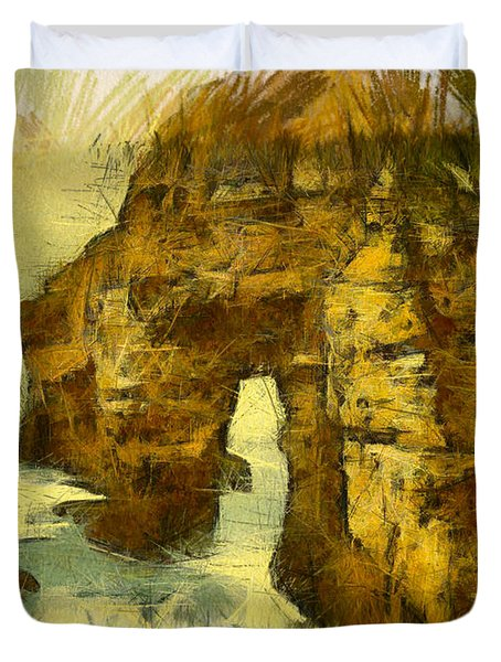 Horn Head Temple Arch Duvet Cover by Unknown