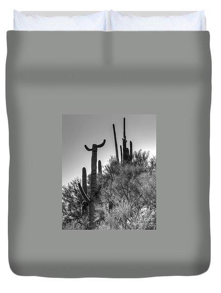 Horn Saguaro Cactus Duvet Cover
