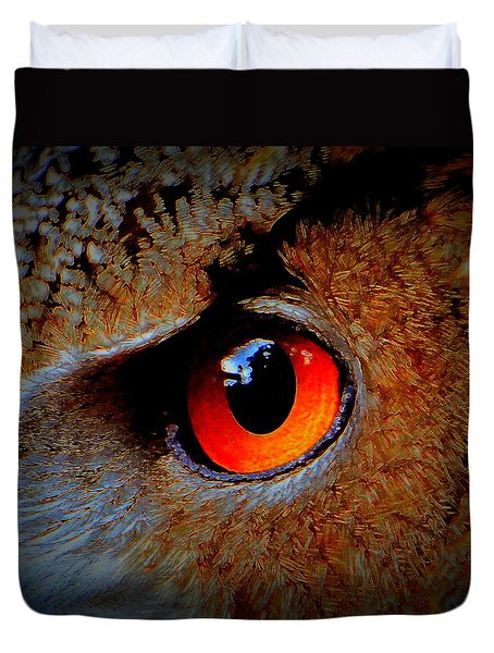 Horned Owl Eye Duvet Cover