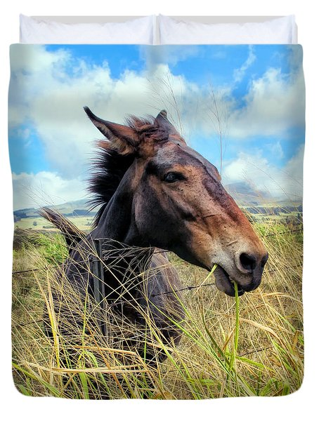Duvet Cover featuring the photograph Horse 6 by Dawn Eshelman
