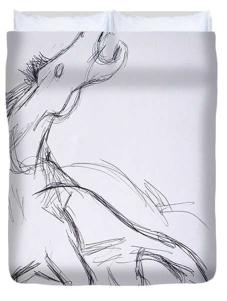 Horse ...after Picasso Duvet Cover
