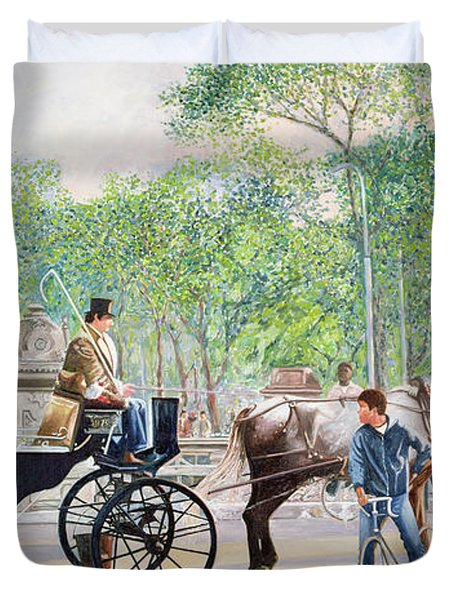 Horse And Carriage Duvet Cover by Anthony Butera