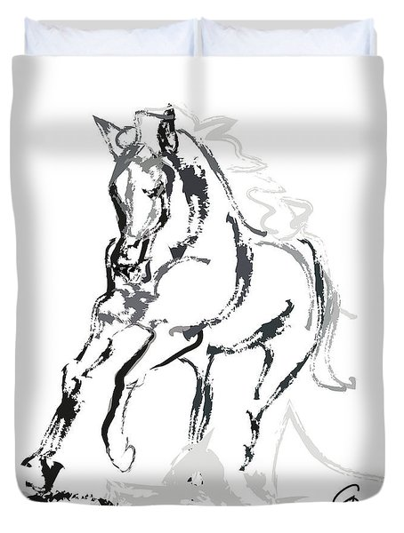 Horse- Andalusian Angel Duvet Cover
