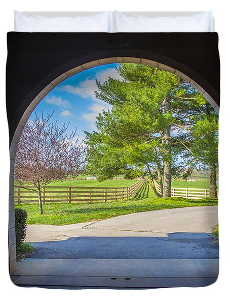 Horse Barn Duvet Cover