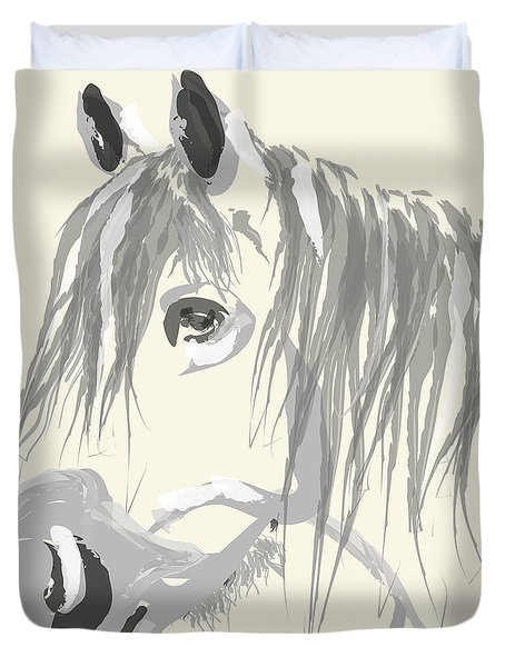 Horse- Big Jack Duvet Cover