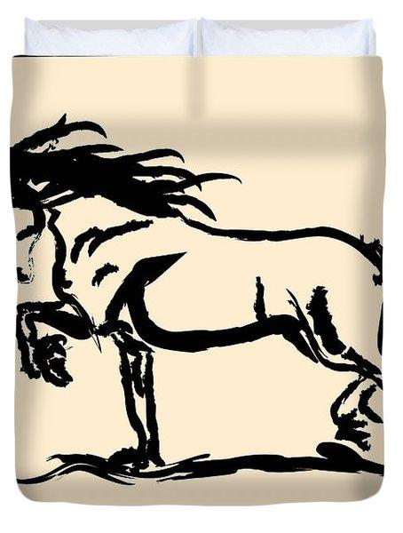 Horse - Blacky Duvet Cover