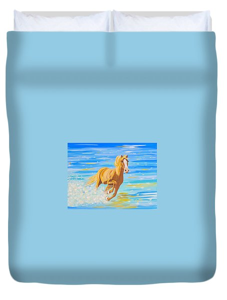 Duvet Cover featuring the painting Horse Bright by Phyllis Kaltenbach