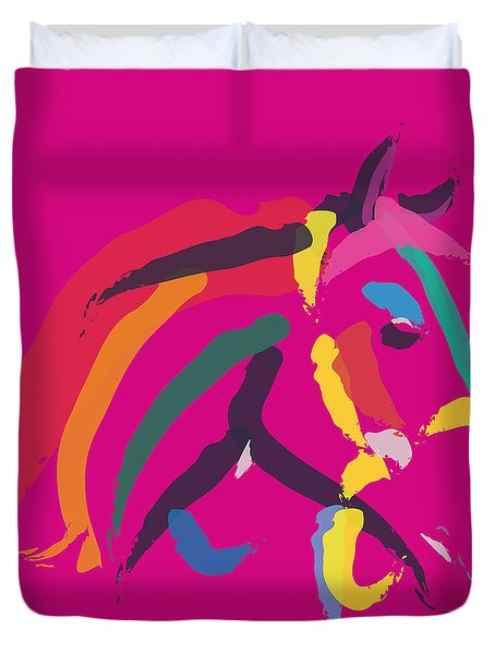 Horse - Colour Me Strong Duvet Cover