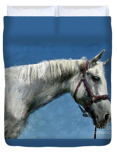 Horse  Duvet Cover by Daliana Pacuraru