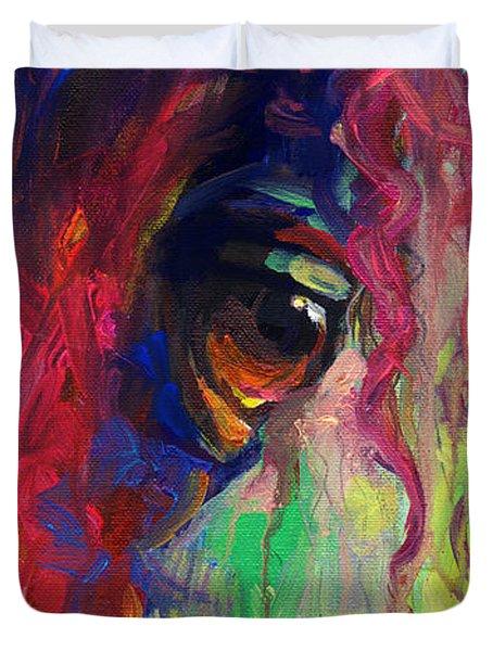 Horse Eye Portrait  Duvet Cover by Svetlana Novikova