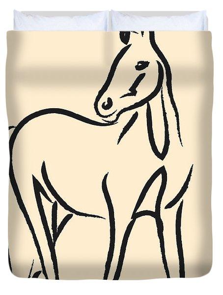 Horse - Grace Duvet Cover