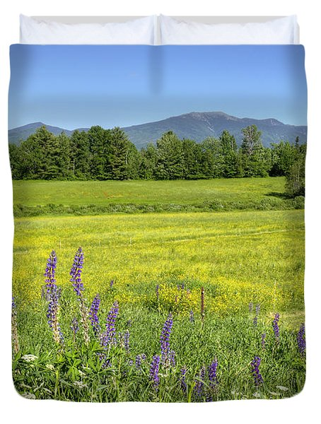 Horse In Buttercup Field Duvet Cover
