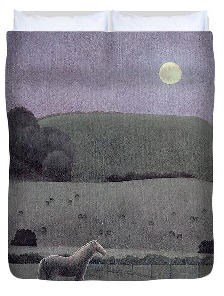 Horse In Moonlight, 2005 Oil On Canvas Duvet Cover