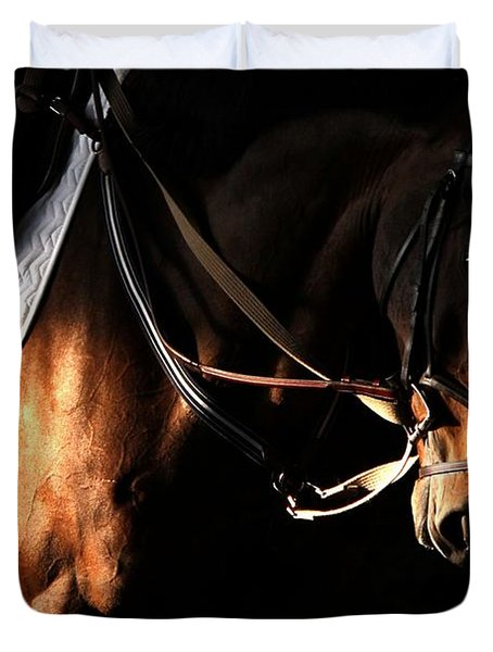 Horse In The Shade Duvet Cover
