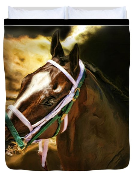 Horse Last Memories Duvet Cover by Blake Richards