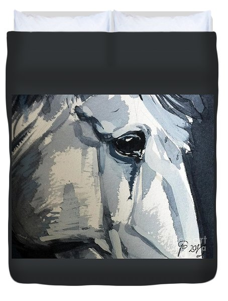 Horse Look Closer Duvet Cover