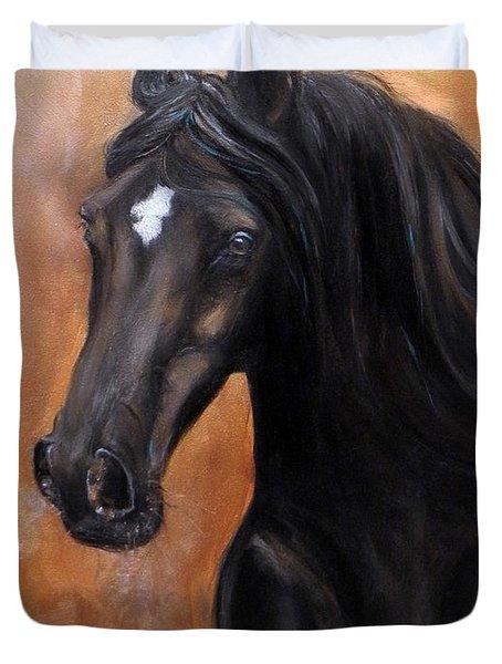 Horse - Lucky Star Duvet Cover