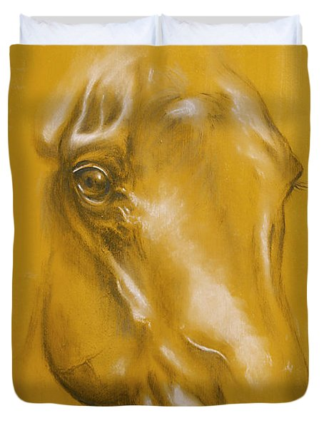 Horse Portrait Duvet Cover by Tamer and Cindy Elsharouni