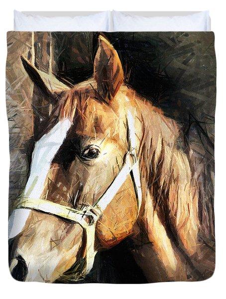 Horse Portrait - Drawing Duvet Cover