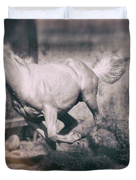 Horse Power Duvet Cover