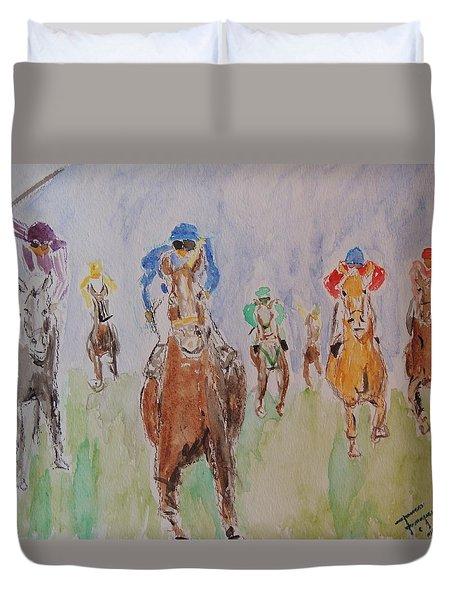 Horse Race Duvet Cover