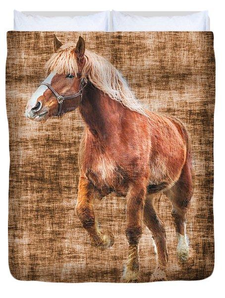 Horse Running Duvet Cover by Dan Friend