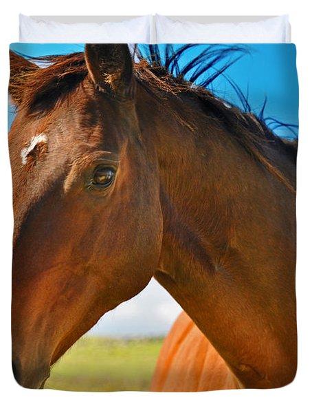 Horse Duvet Cover by Sabine Edrissi
