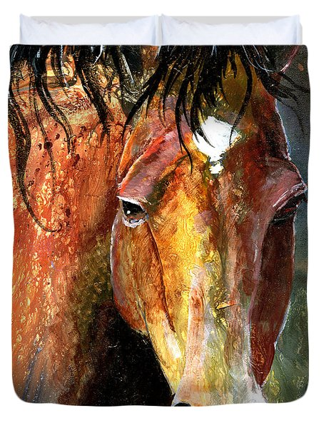 Horse Duvet Cover by Sherry Shipley