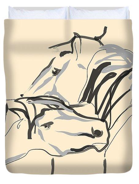 Horse - Together 4 Duvet Cover