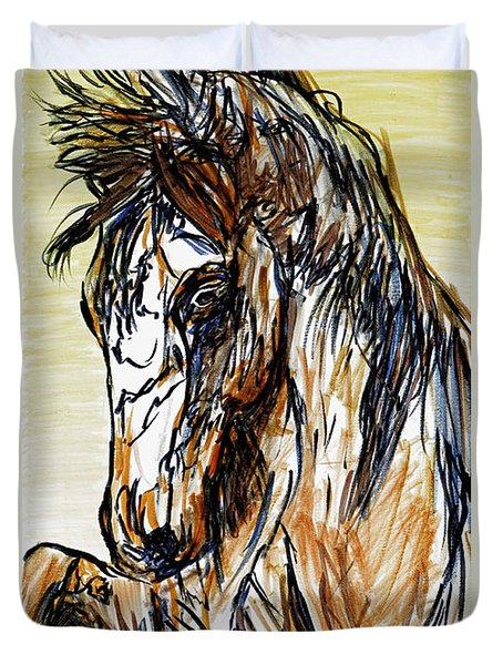 Horse Twins II Duvet Cover