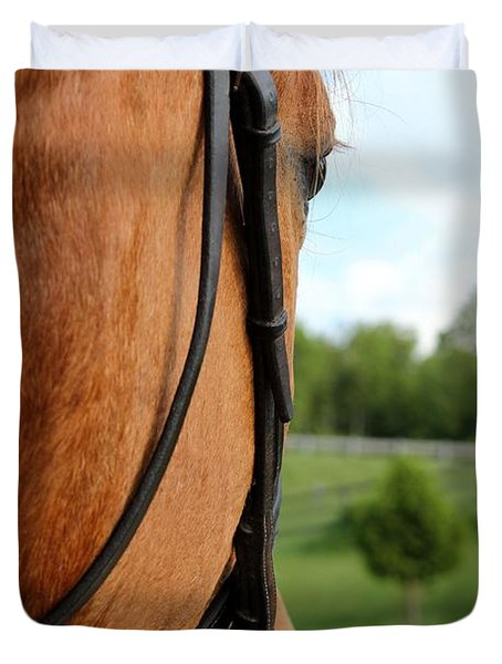 Horse View Duvet Cover