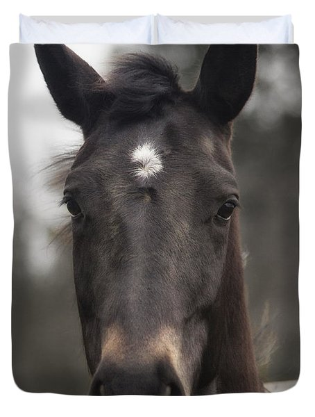 Horse With Gentle Eyes Duvet Cover
