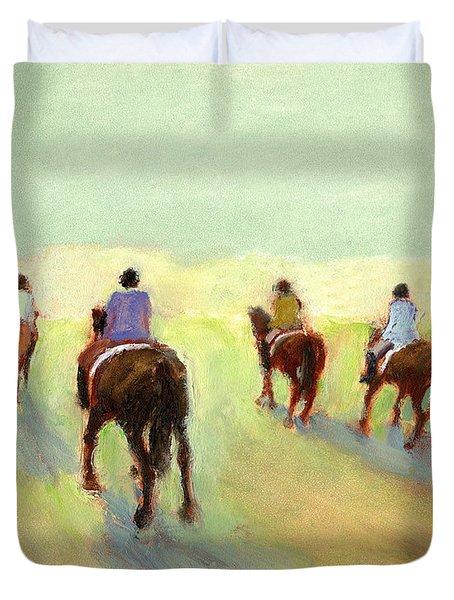 Horseback Riders Duvet Cover