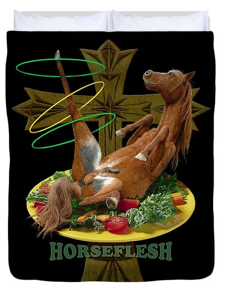 Horseflesh Duvet Cover by Scott Ross
