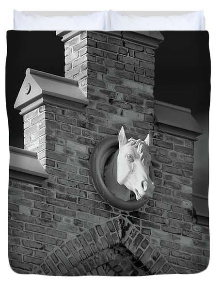 Horsehead   8256 Duvet Cover by Guy Whiteley
