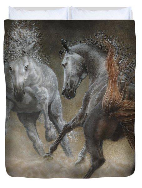 Horseplay II Duvet Cover